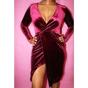 Dresses & Skirts - Burgundy Velvet dress